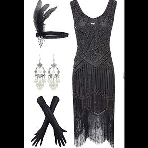 1920's Sequin Tassels Flapper Dress